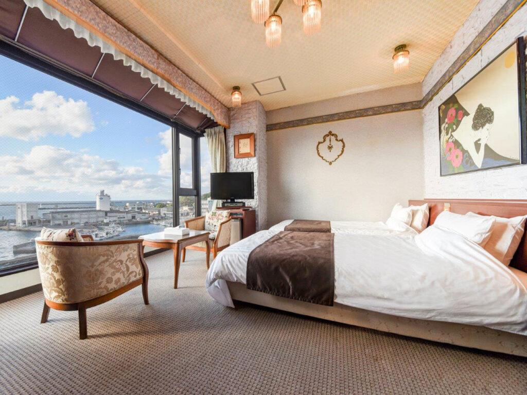 あらきホテル寝室